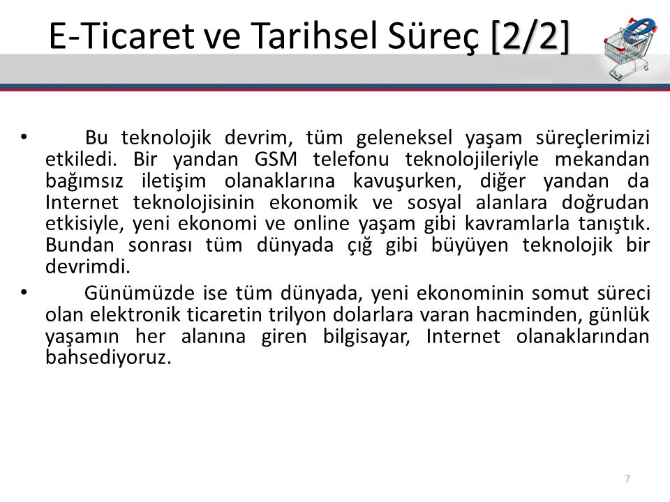 E-Ticaret ve Tarihsel Süreç [2/2]